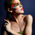 femme · mode · plumes · maquillage · lumineuses - photo stock © zastavkin