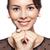 若い女性 · ヴィンテージ · ドレス · 小さな · 幸せ · 笑顔の女性 - ストックフォト © zastavkin