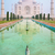 Taj · Mahal · brumoso · manana · oculto · pálido · niebla - foto stock © zastavkin