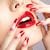 akryl · paznokcie · manicure · twarz · palce - zdjęcia stock © zastavkin