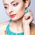 mooie · blond · kralen · portret · jonge · blonde · vrouw - stockfoto © zastavkin