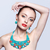 güzel · sarışın · kadın · bijuteri · gri · model · mavi - stok fotoğraf © zastavkin