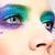donna · occhi · splendente · vacanze · trucco · primo · piano - foto d'archivio © zastavkin
