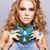 kadın · bijuteri · portre · güzel · genç · kadın · kıvırcık · saçlı - stok fotoğraf © zastavkin