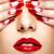 unhas · beleza · menina · retrato · lábios · vermelhos · de · volta - foto stock © zastavkin