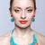 güzel · sarışın · kadın · bijuteri · gri · kadın · kız - stok fotoğraf © zastavkin