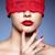 verlegen · meisje · Rood · portret · ogen · jonge - stockfoto © zastavkin