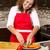 női · szakács · háziasszony · beszél · gyönyörű · telefon - stock fotó © zdenkam