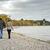 casal · velho · caminhada · parque · árvore · idoso · outono - foto stock © zdenkam