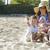 matka · syn · posiedzenia · plaży · uśmiechnięty · miłości - zdjęcia stock © zdenkam