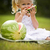 portrait of a little girl eating watermelon stock photo © zdenkam