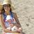baby · moeder · strand · glimlachend · gelukkig · Blauw - stockfoto © zdenkam