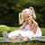 boldog · kislány · görögdinnye · lány · mosoly · gyermek - stock fotó © zdenkam