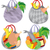 Set of plastic transparent shopping bags filled with food stock photo © Zebra-Finch