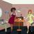 cartoon · vrouw · vergadering · blazen · illustratie · vrouwelijke - stockfoto © zebra-finch
