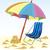 guarda-sol · ilustração · colorido · branco · praia · céu - foto stock © zebra-finch
