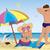 házaspár · napernyő · tengerpart · égbolt · család · férfi - stock fotó © Zebra-Finch