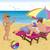 házaspár · esernyő · tengerpart · fiatal · lány · közmondás · hello - stock fotó © Zebra-Finch