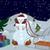 hóember · madarak · karácsonyfa · szalag · éjszaka · háttér - stock fotó © Zebra-Finch