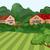 huizen · groene · landschap · hemel · wolken · natuur - stockfoto © zebra-finch