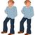 mutlu · karikatür · adam · ayakta · mavi · pantolon - stok fotoğraf © Zebra-Finch
