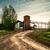rayo · carretera · campo · camino · rural · árbol · paisaje - foto stock © zeffss