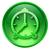 zegar · ikona · zielone · szkła · odizolowany · biały - zdjęcia stock © zeffss