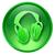 ikon · zöld · üveg · izolált · fehér · számítógép - stock fotó © zeffss