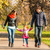 Happy young family walks in the park stock photo © zeffss