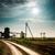 Молния · шоссе · области · трава · пейзаж - Сток-фото © zeffss