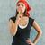 çekici · genç · kadın · sessizlik · jest · kırmızı · elbise - stok fotoğraf © zeffss