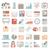 ícones · negócio · escritório · relógio · monitor · financiar - foto stock © zelimirz