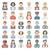 ícones · pessoas · ocupação · homem · médico · grávida - foto stock © zelimirz