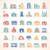 iconen · gebouwen · huis · restaurant · stedelijke - stockfoto © zelimirz