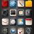 app · iconen · zwarte · wereldbol · klok · mail - stockfoto © zelimirz