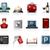 hotel · ikon · gyűjtemény · ikonok · bor · felirat · kulcs - stock fotó © zelimirz