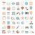 иконки · веб · универсальный · веб-иконы · интернет · календаря - Сток-фото © zelimirz