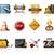 építkezés · ikonok · út · szerver · hálózat · munkás - stock fotó © zelimirz