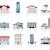 edifícios · ícones · edifício · arquitetura · armazenar · arranha-céu - foto stock © zelimirz