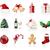 karácsony · ikonok · ikon · gyűjtemény · gyertya · labda · üveg - stock fotó © zelimirz