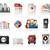 impressão · ícones · cor · impressora · máquina - foto stock © zelimirz