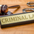 A gavel and a name plate with the engraving Criminal Law stock photo © Zerbor