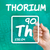 symbol for the chemical element thorium stock photo © zerbor