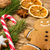 a gingerbread man with a candy cane and christmas decorations stock photo © zerbor