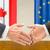 europa · Canadá · bandeira · misto · tridimensional · tornar - foto stock © zerbor