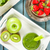 a green smoothie with fruit and spinach stock photo © zerbor