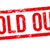 red stamp on a white background   sold out stock photo © zerbor