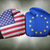 a boxing match between the usa and the european union stock photo © zerbor