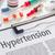 hipertensão · ilustração · nuvem · da · palavra · médico · coração · sangue - foto stock © zerbor