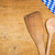 wooden spoons with a bavarian tablecloth on a wooden background stock photo © zerbor